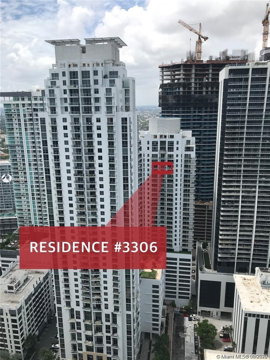 Spectacular views of the city and the Biscayne Bay from this unique and rare 33rd Floor Loft Style /