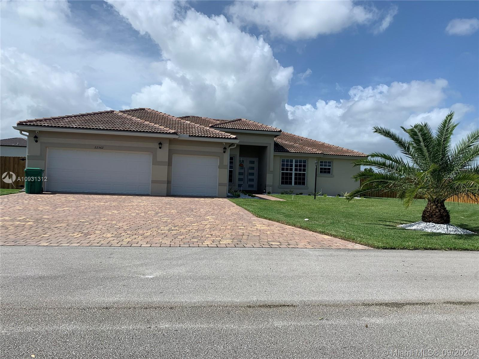 Available for sale 4-Bed & 3-Bath Home built it 2016. Property is over 4,000 square feet and sits on a 15,000 sq ft lot! This spacious home offers a large open floor plan w/ family room that opens to beautiful kitchen equipped w/ pantry, island, and another separate dining area facing the covered patio. Fenced in large backyard! Also featuring 3-car garage, master bedroom suite is equipped w/ his & her closets and vanities along w/ a soaking tub and stand-up shower. Property has state of art security system, 16 cameras, 3 central A/C's, sprinklers, you name it, it has it. Call today for your private showing.