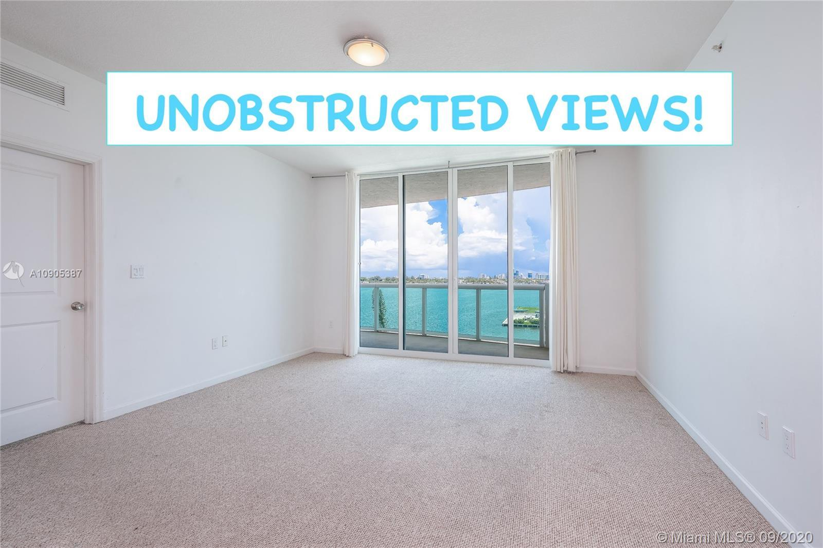 Spacious and bright 2/2 with split floor plan, overlooking Biscayne Bay with total privacy and direc