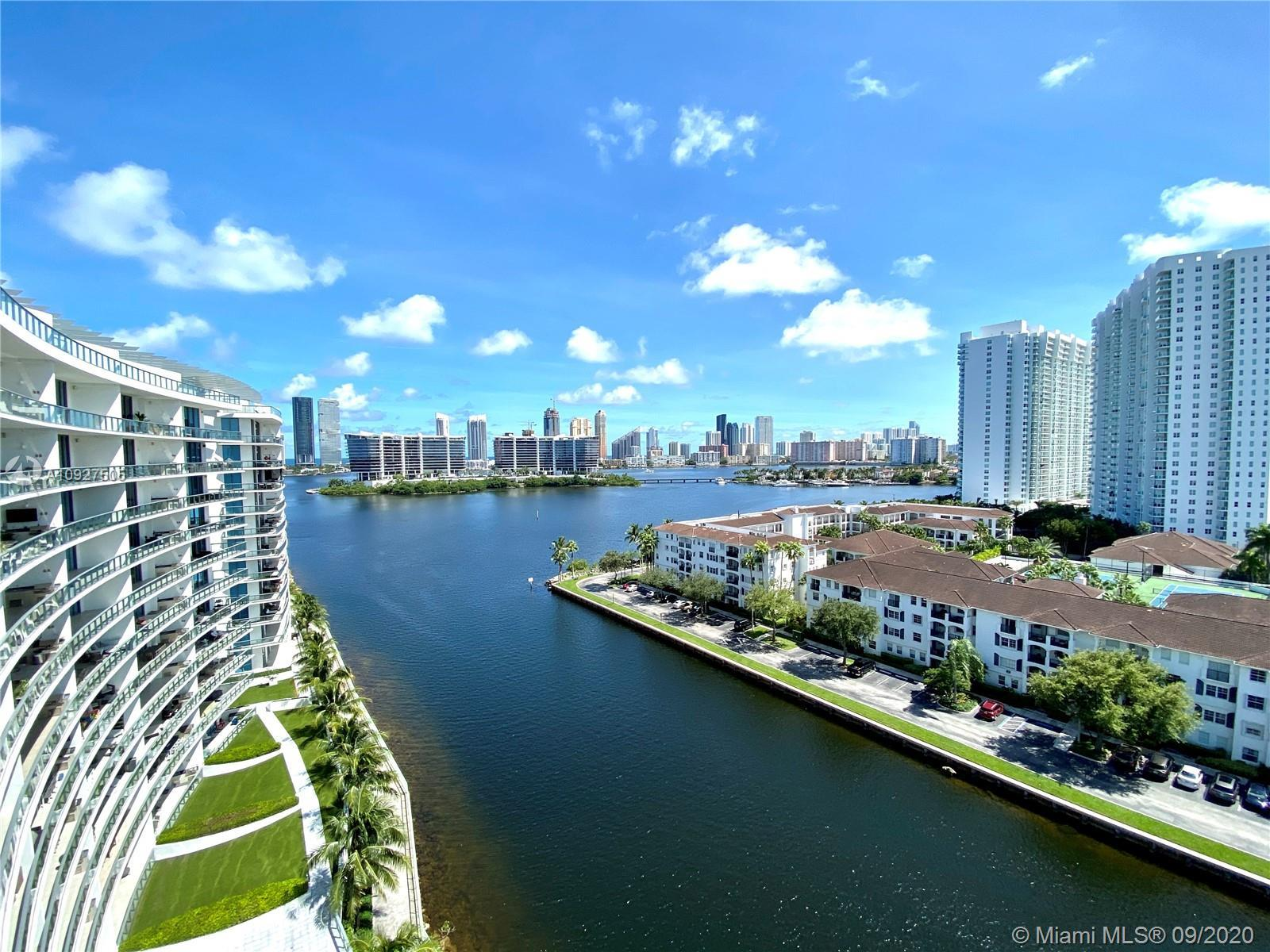 This is one of the most exclusive penthouses at Echo Aventura with water and city views looking over