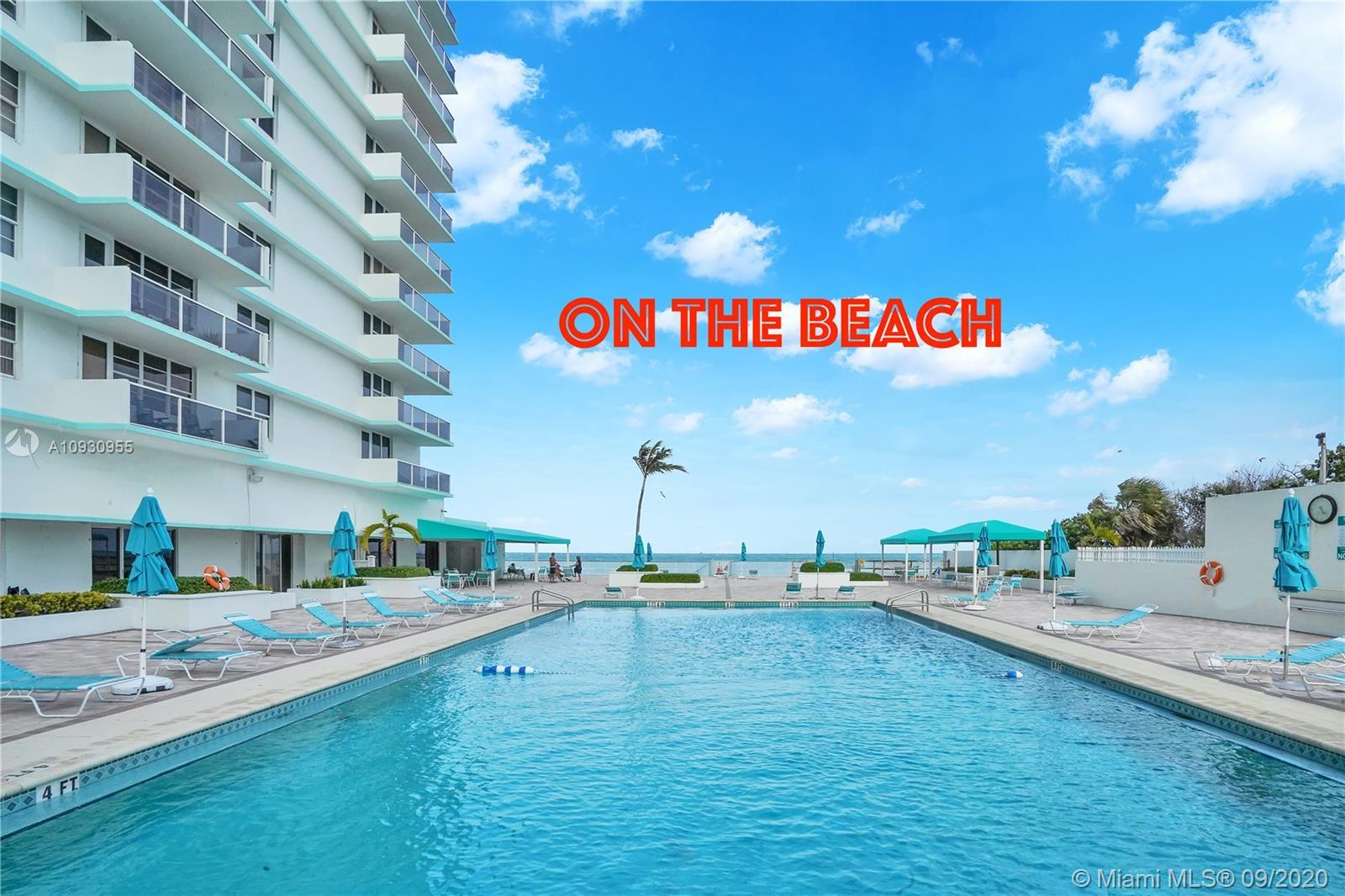 LARGE 2 BEDS/ 2 BATHS DIRECT ON THE BEACH.INTERCOASTAL VIEW AND DIRECT ACCESS OCEAN.SPECIAL INVESTOR