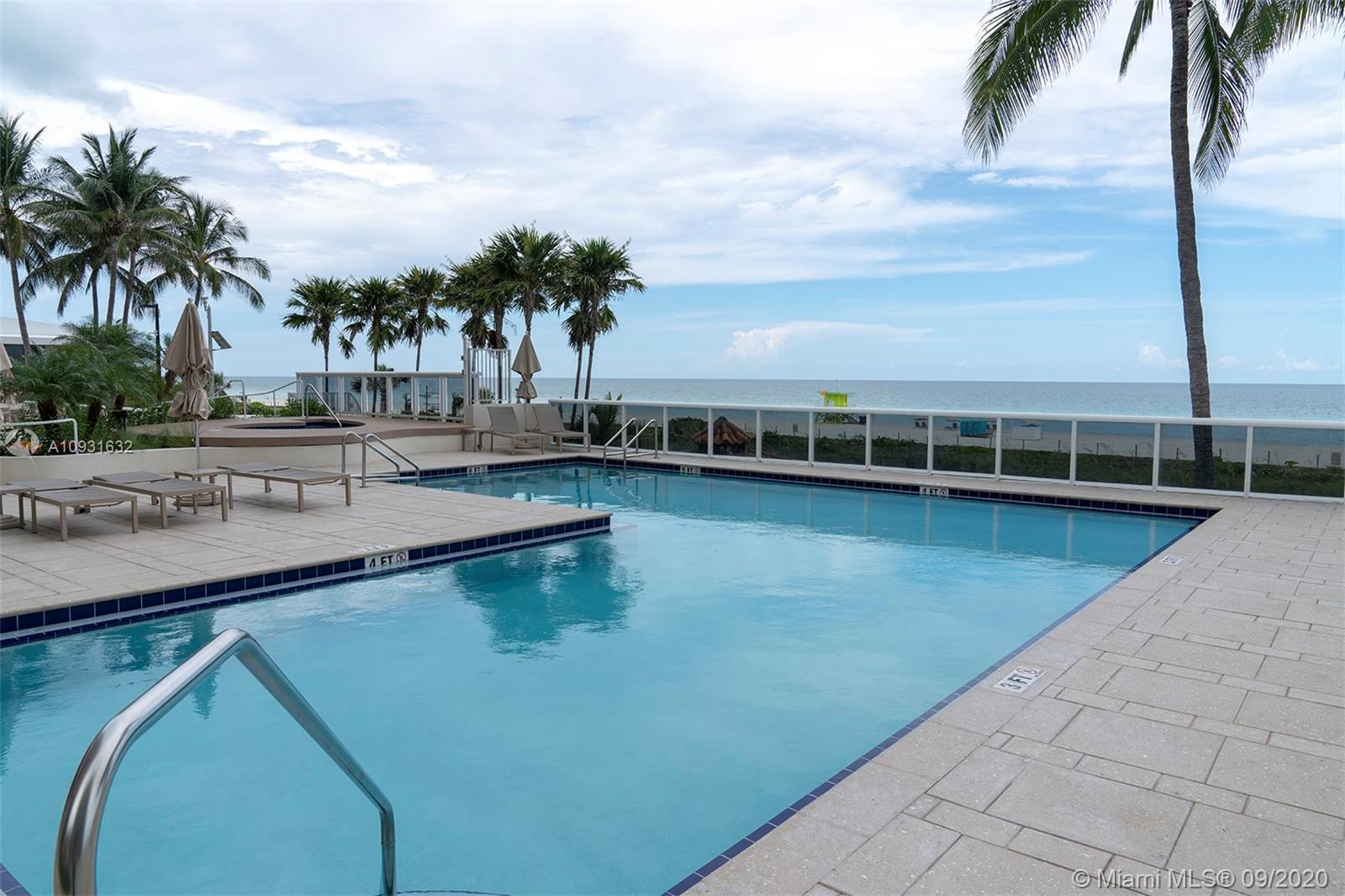 Oceanfront Building with all amenities. Washer and Dryer inside the unit, Assigned Cover Parking, Se