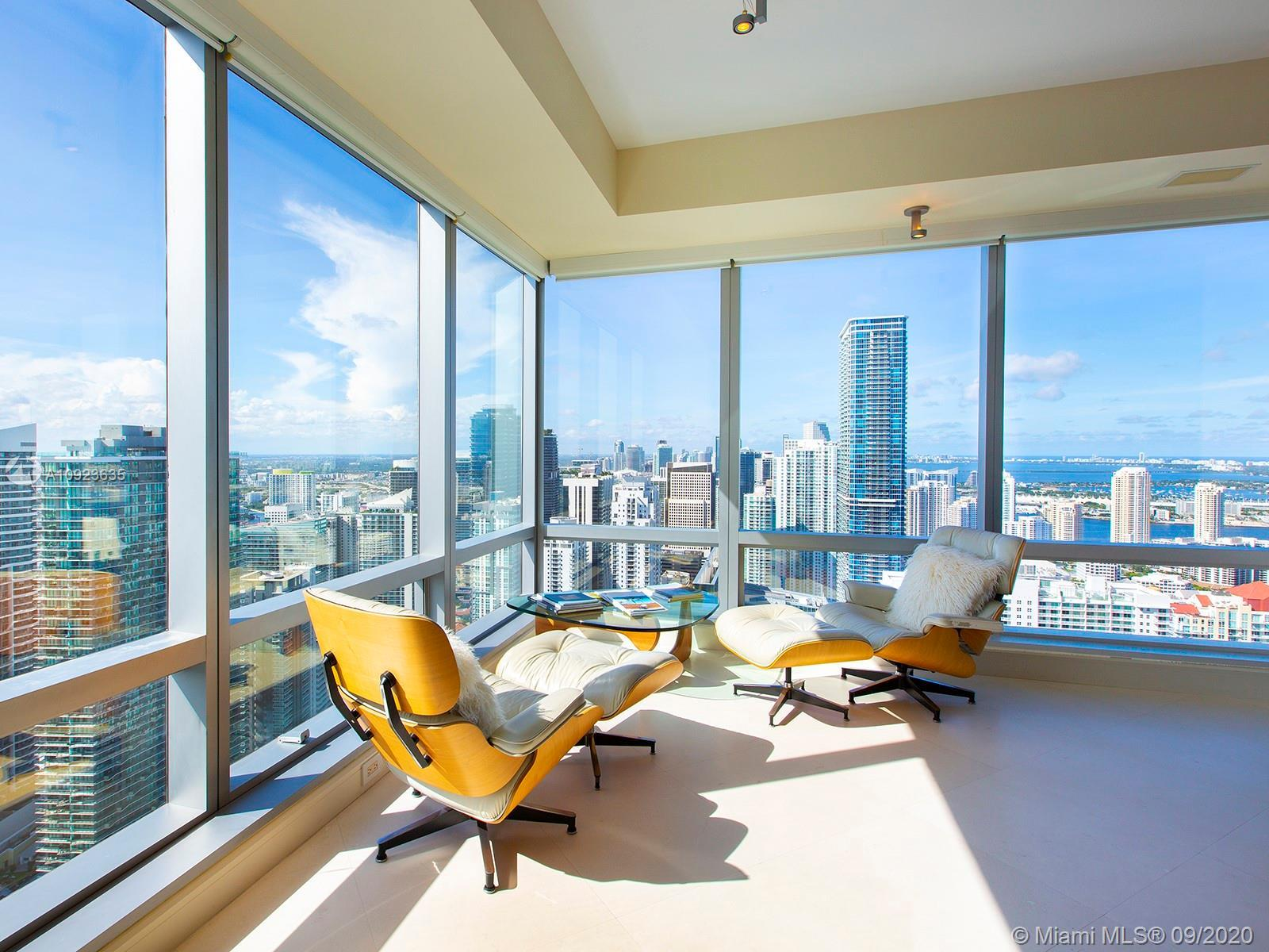 Located in downtown's refined Brickell neighborhood, this magnificent 3,154 Total SF corner unit off