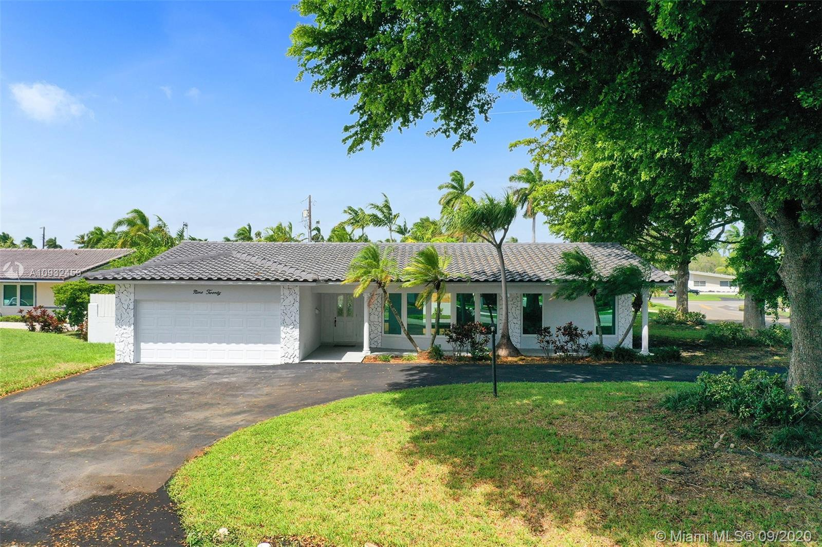 Hollywood Lakes Corner Lot Fully renovated 4 Bedrooms 3 Full Bathrooms on prestigious Diplomat Parkw