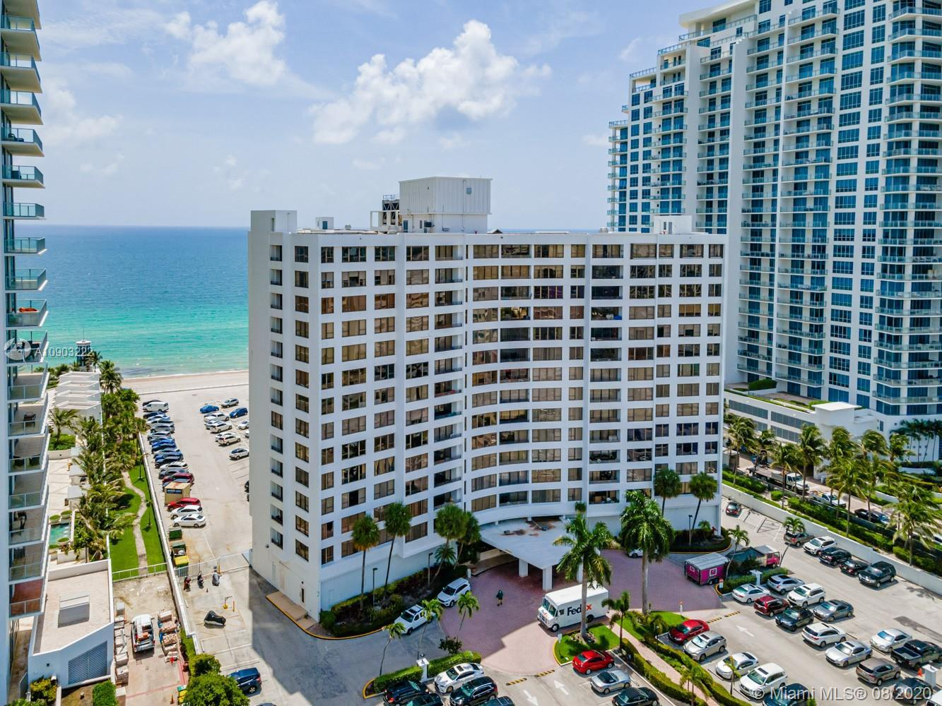 Move In ready 1bed/1.5bath Condo in Alexander Towers, an Ocean Front building. This 12th floor unit