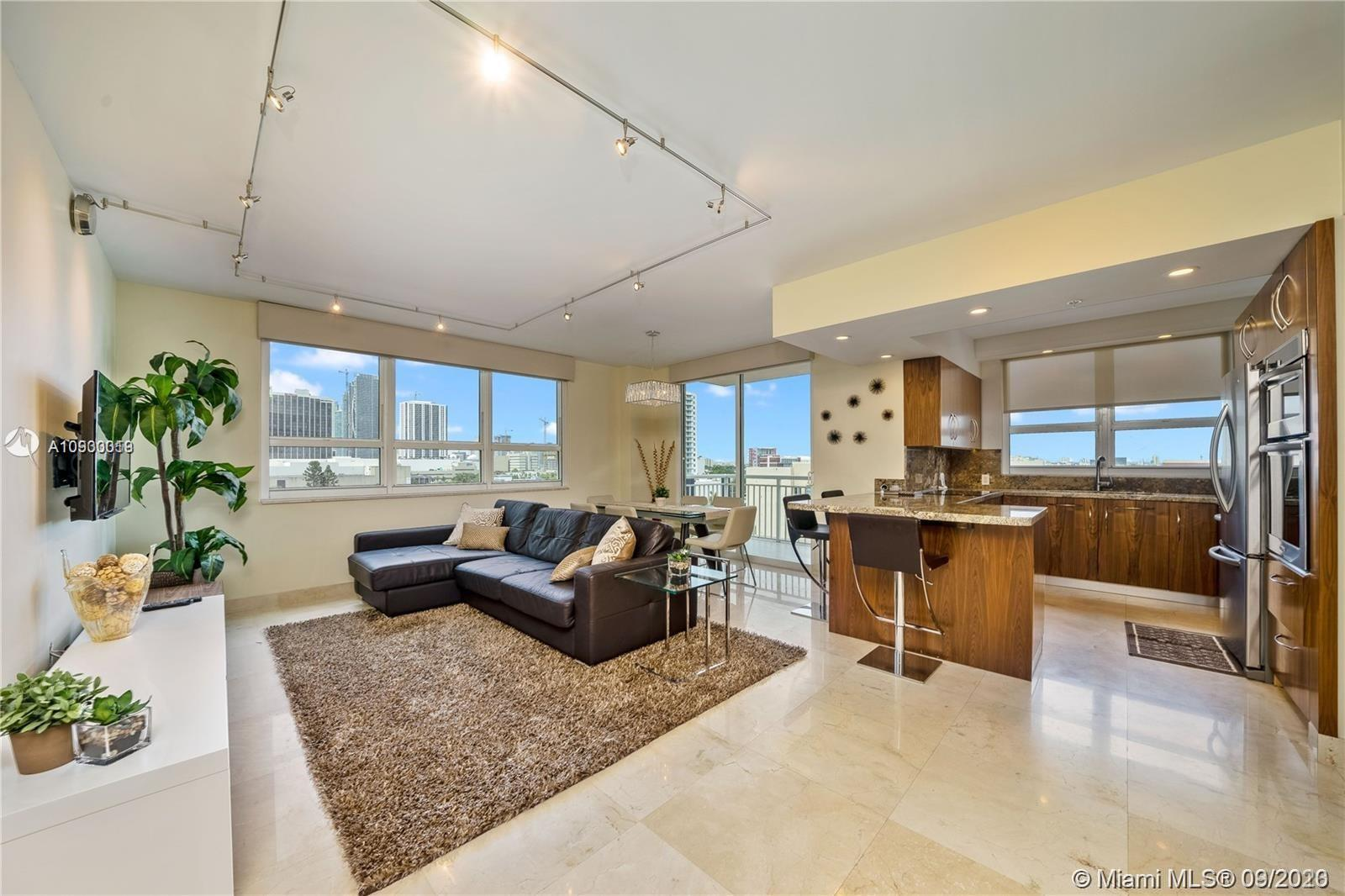 Turnkey, beautifully furnished 3/2 corner unit at Cite on the Bay Condominium in Miami's  Edgewater