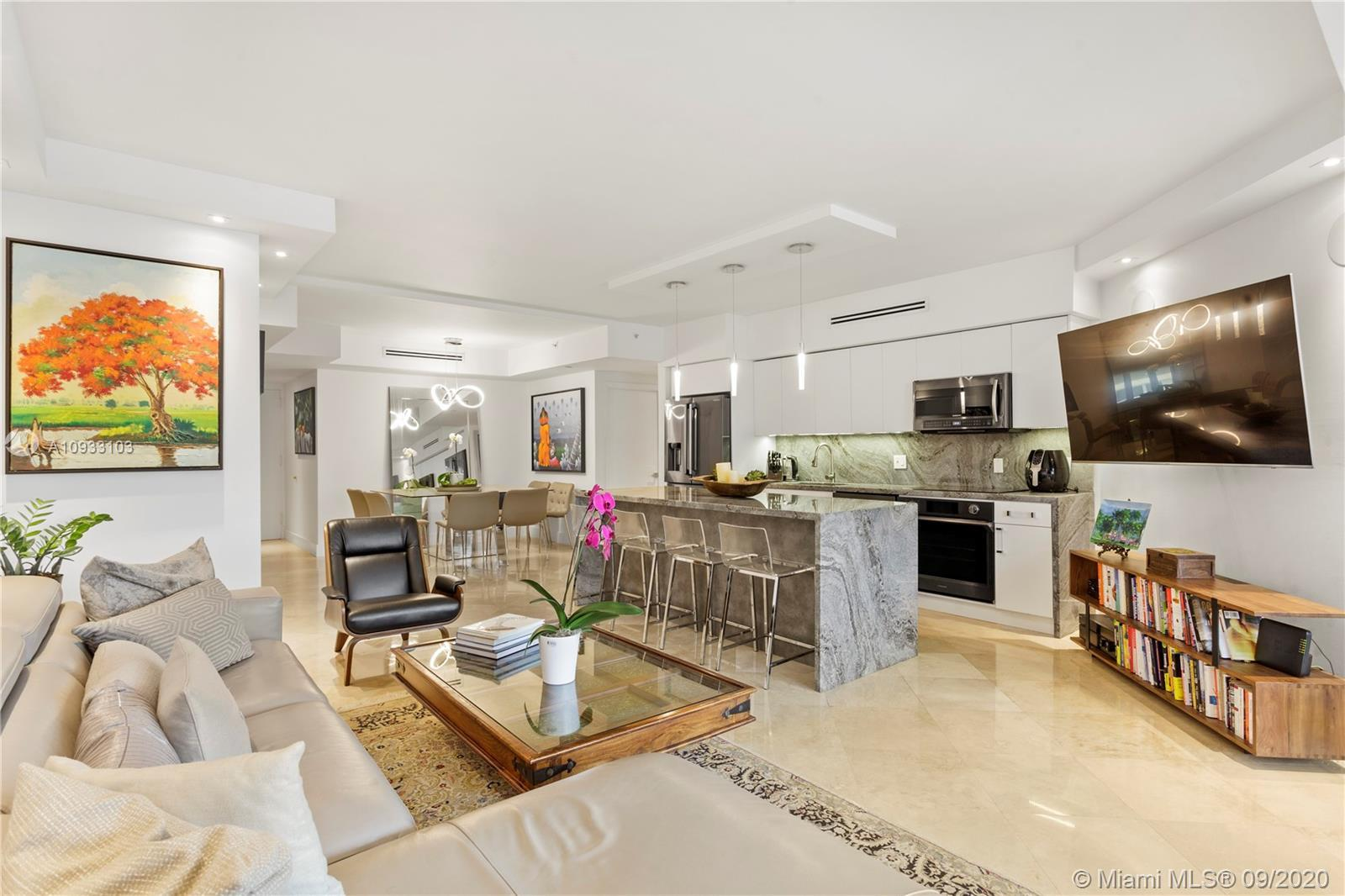 Completely renovated, no expense has been spared.  This residence boasts an expansive floor plan. La