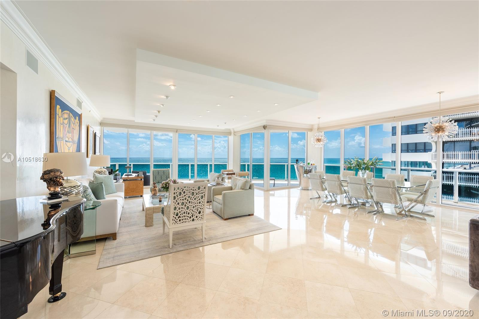 This beautifully designed 3BR/5+1BA Oceanfront unit at the Bellini condo is truly stunning featuring