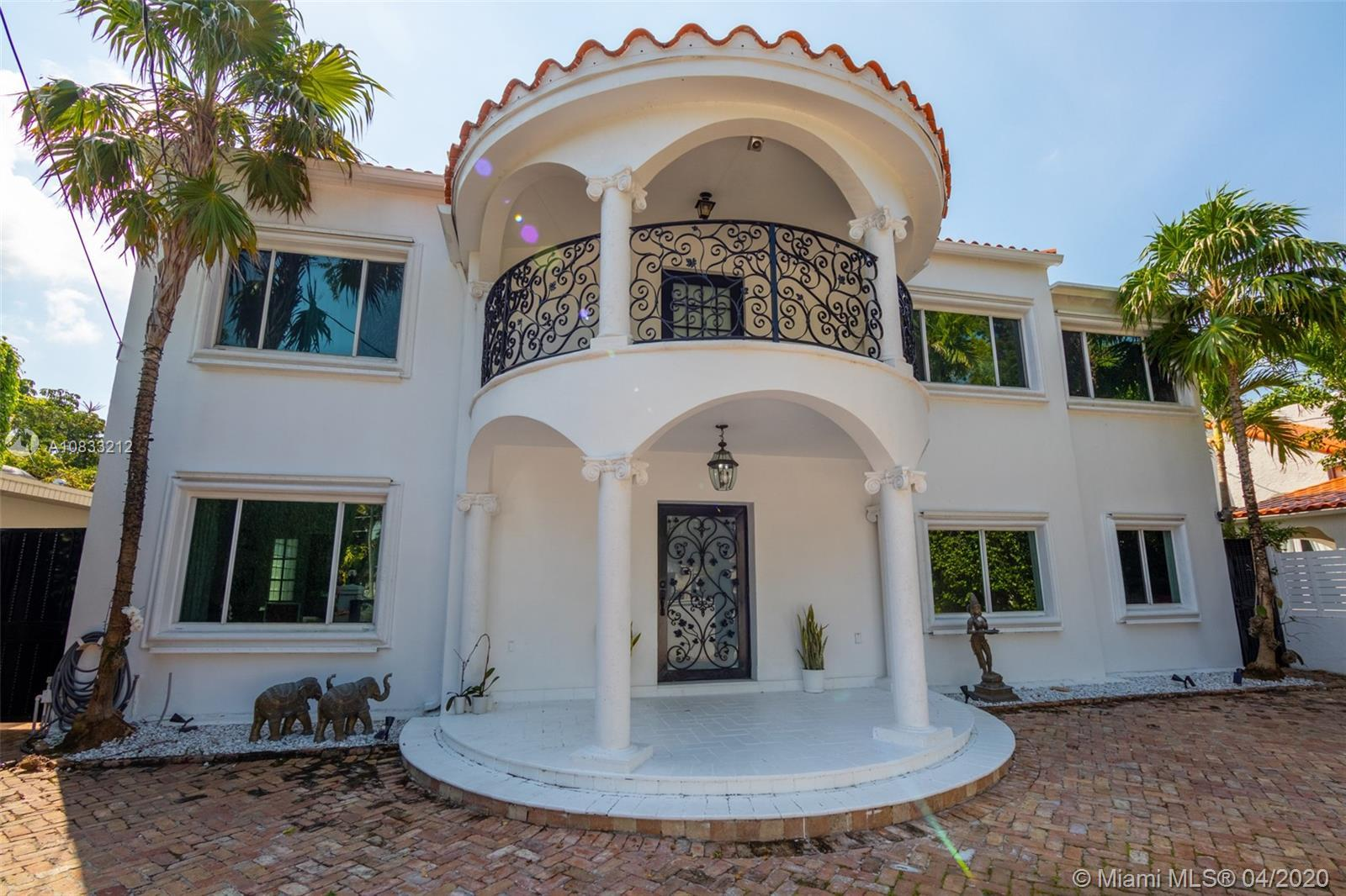 Very unique opportunity on Bay Road in Miami Beach.  This 2 story, 4 bedroom, 3 bathroom house is ve