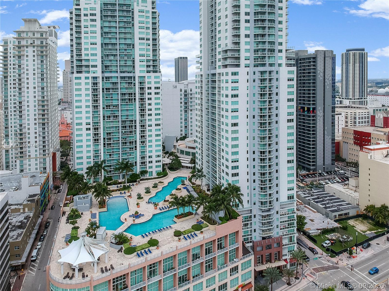 Stunning 2 BD / 2.5 BA high-rise home that entices with open floor plan and panoramic views . Walk i