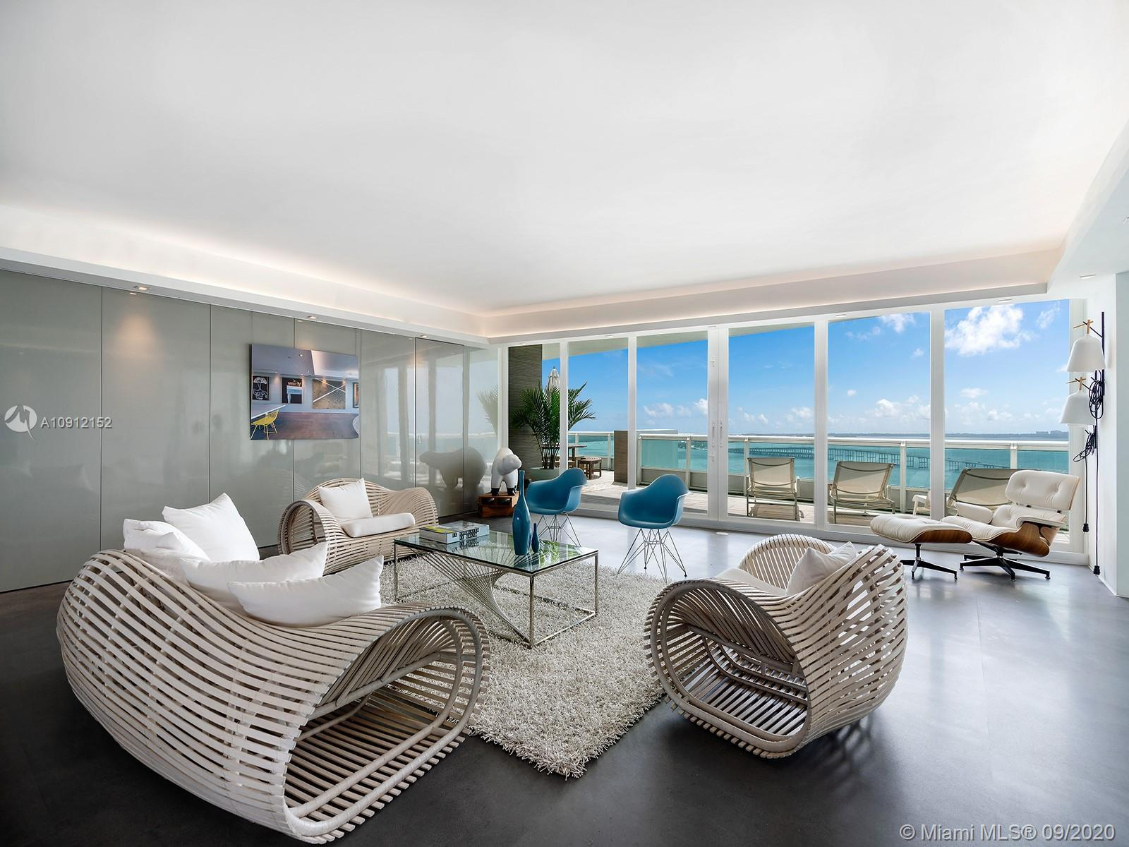This luxe residence on the 27th floor of the Santa Maria tower on Miami's Brickell Avenue was recent