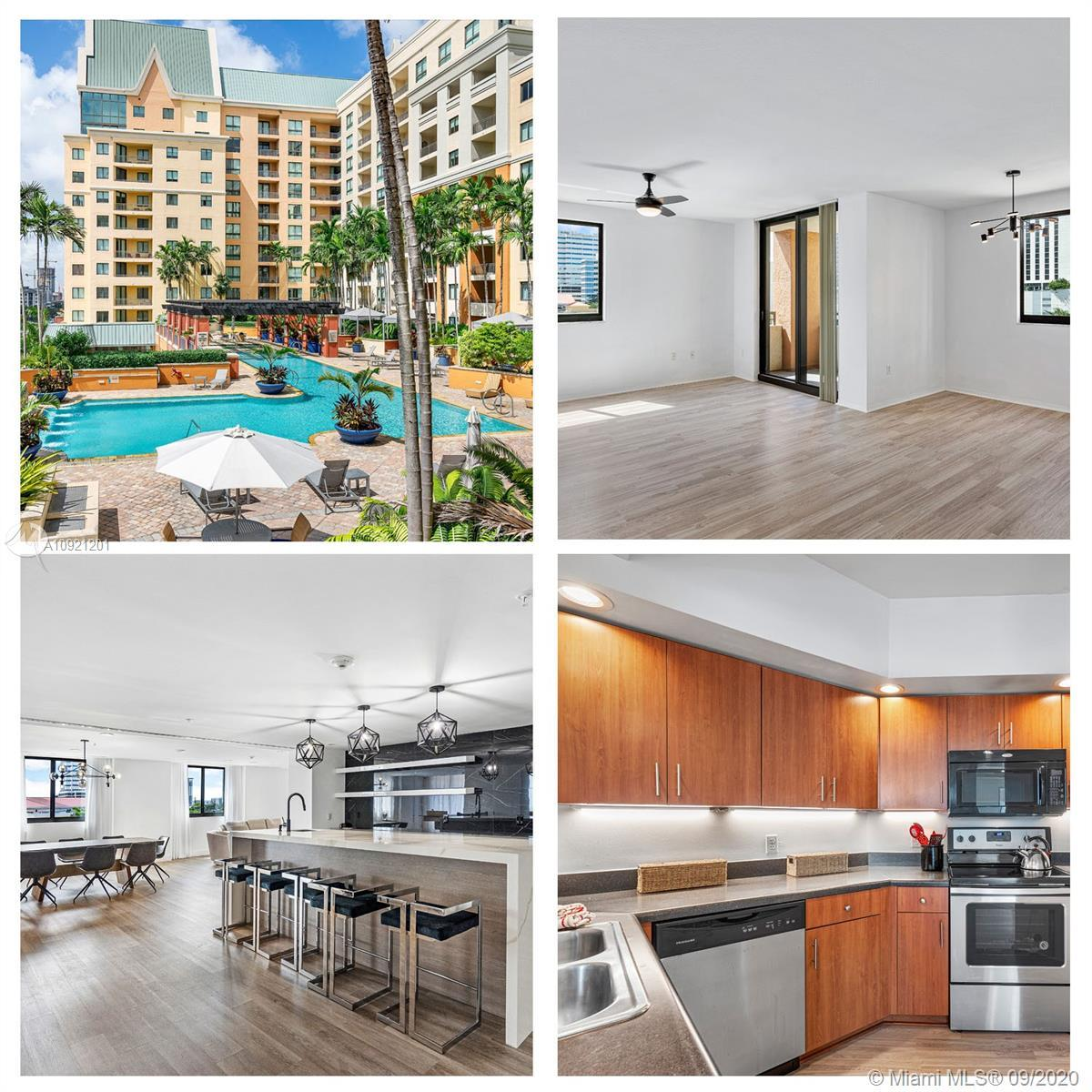 Prime pool/city view. Large pristine 3 bed 2 bath corner unit @ the Waverly at Las Olas, one of Down
