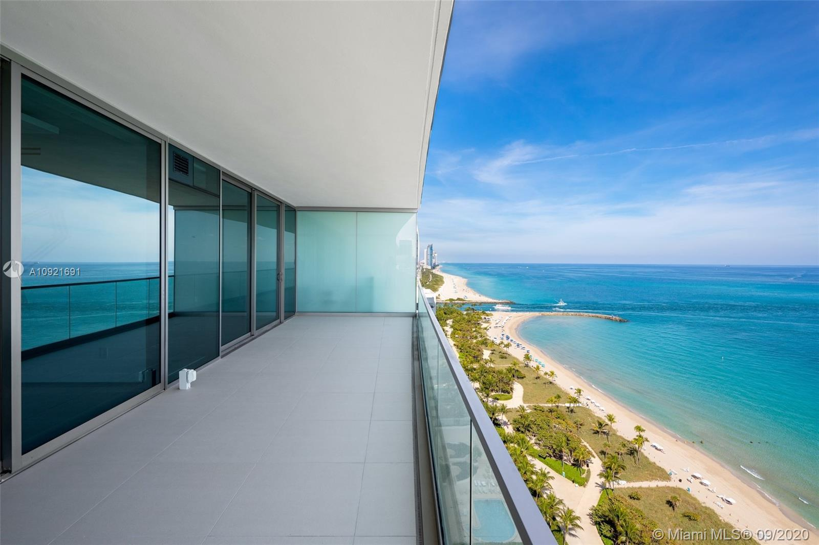 Located in prestigious Oceana Bal Harbour, this stunningly designed high floor flow-thru residence i