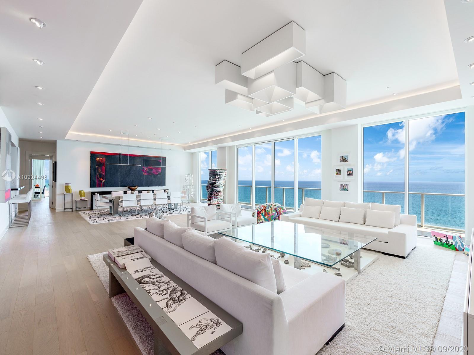 The penthouse at Apogee Beach was completely custom designed to be a luxurious home for entertaining