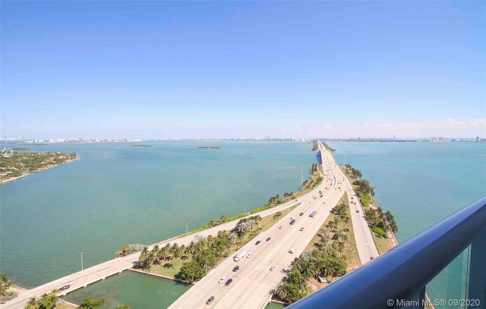 Incredible unobstructed Miami Bay views from living room, kitchen and bedroom!!! Faces East (North M