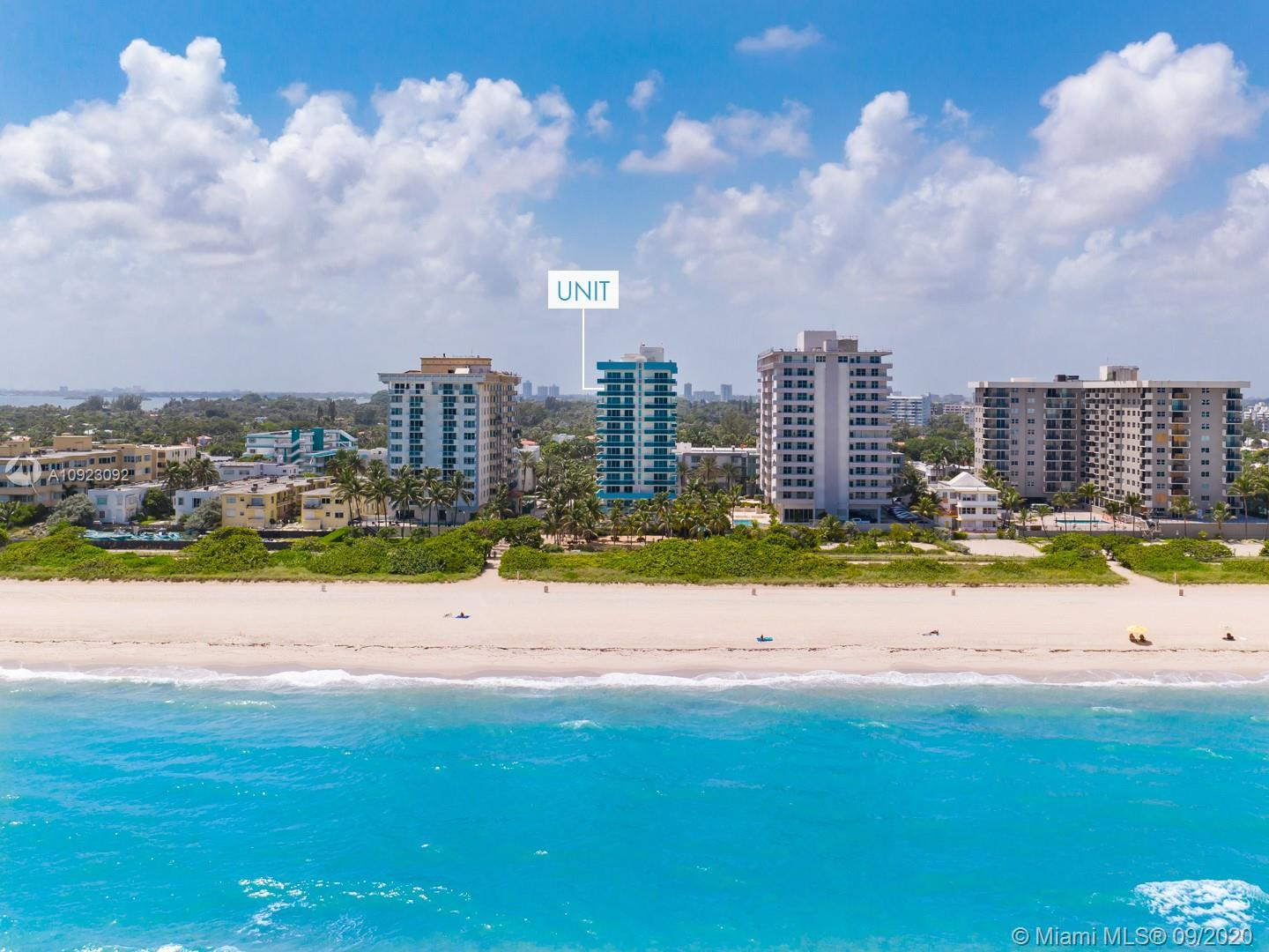 LOWER PENTHOUSE ! DIRECT Oceanfront views! A rare find 3 bedrooms 2 baths in Surfside! This is the l