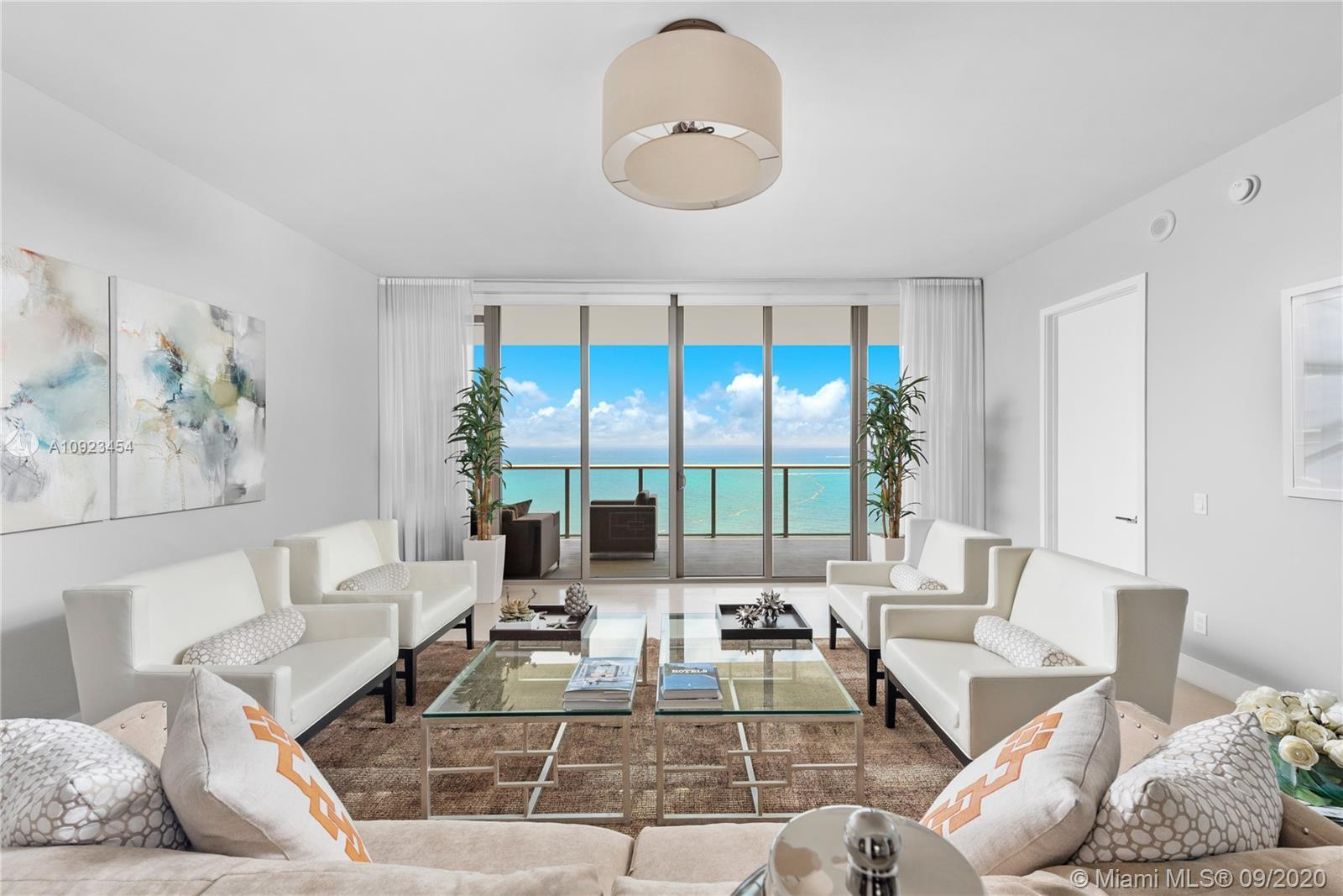 A stunning three bedroom unit at the St Regis Resort in Bal Harbour. This high floor unit has direct