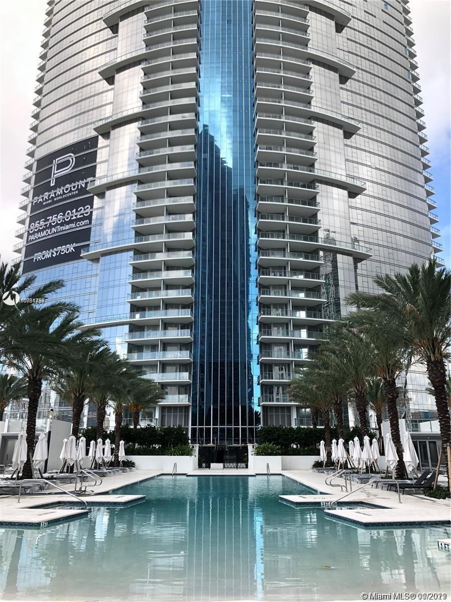 """Miami chic furnished 1 + den + 2 parking spaces at Paramount Miami Worldcenter offering the """"Most Am"""