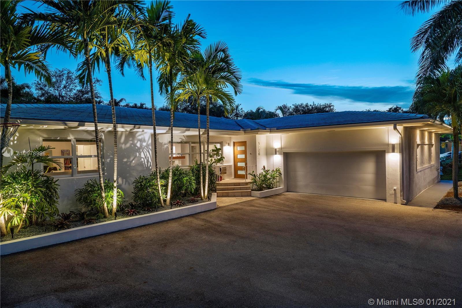 Designer's masterpiece East of Biscayne Blvd in Miami Shores. Fully renovated 4 bedrooms-3 bath pool