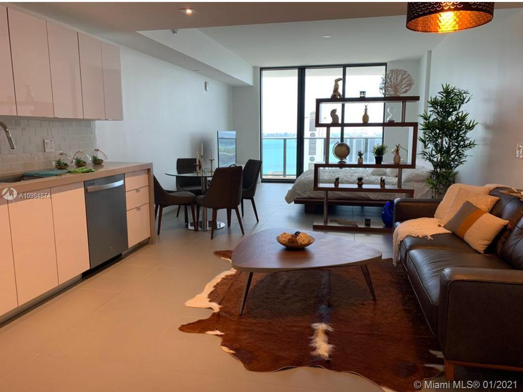 AMAZING STUDIO APT fully furnished with Ocean and City view at CANVAS in the heart of Miami's Arts &