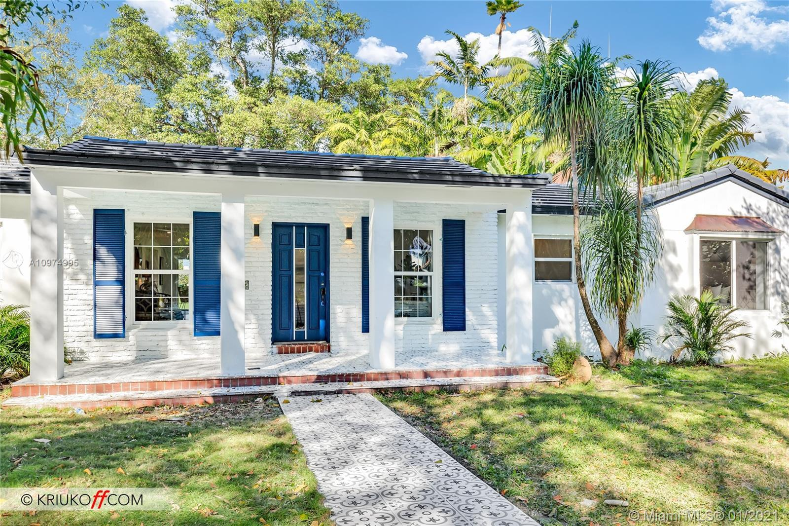 Beautiful home on 6th hole of prestigious Miami Shores Golf Course. Over a third of an acre directly