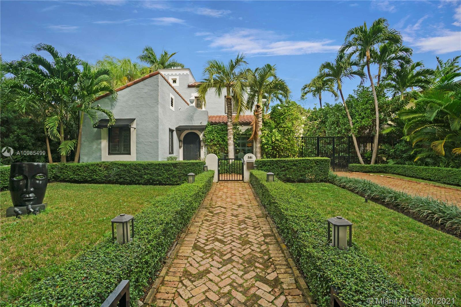 BEAUTIFUL RESTORED CLASSICAL JEWEL IN THE HISTORIC GATED COMMUNITY OF BAYSHORE MORNINGSIDE, FEATURIN