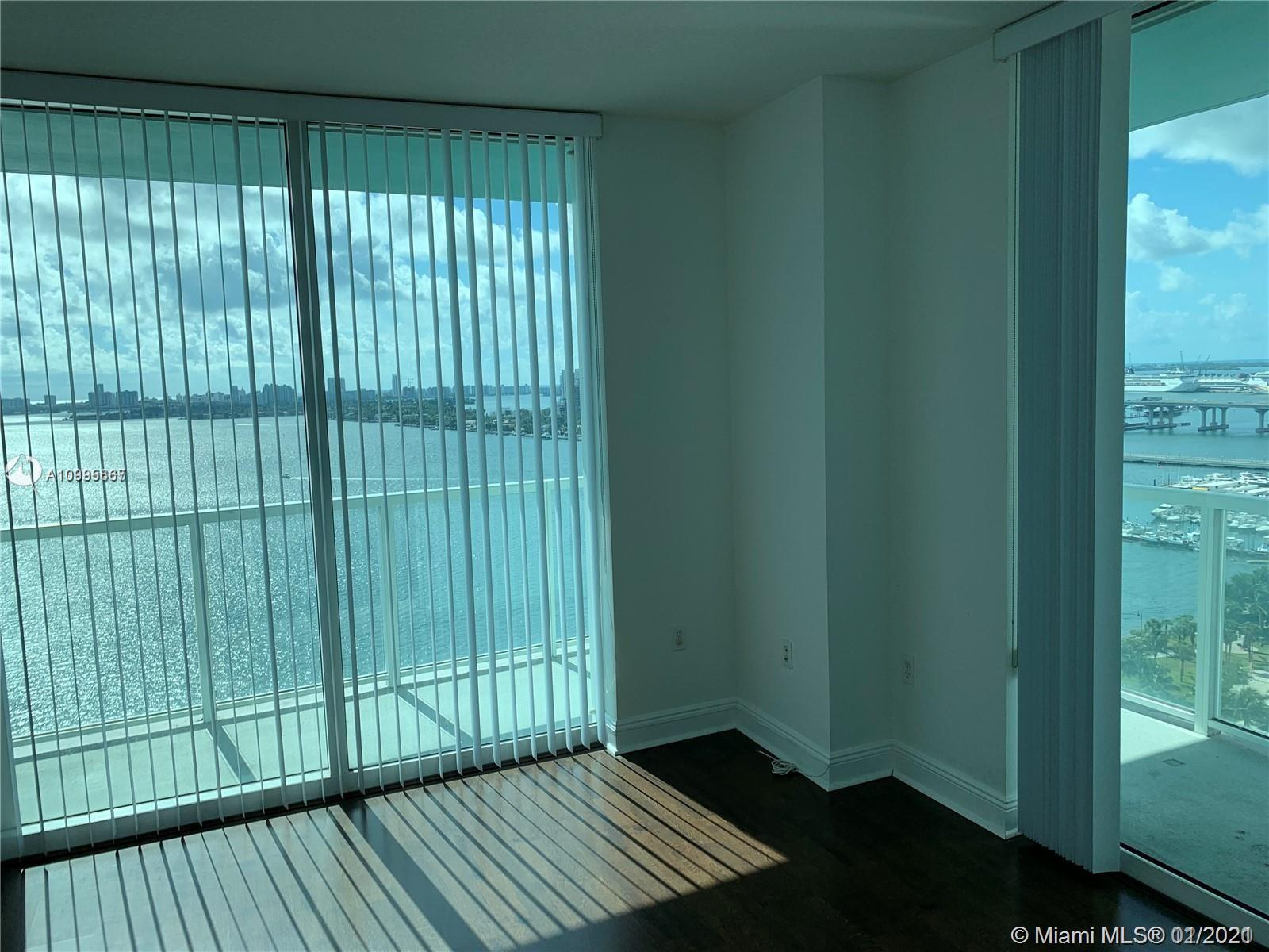 Spectacular bay view, new unit with 2 bedrooms, 2.5 baths, features wrap around terrace.  Beautiful