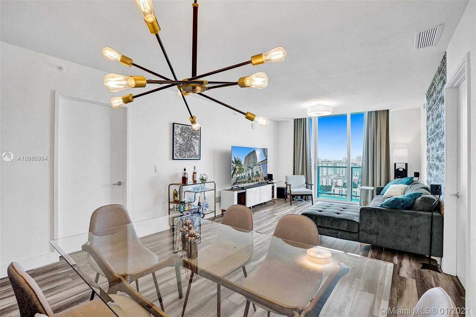 Fully Furnished !!! 1860 sqft 2 Beds / 3 Full Baths + Den. Located in Sunny Isles Beach one of the m