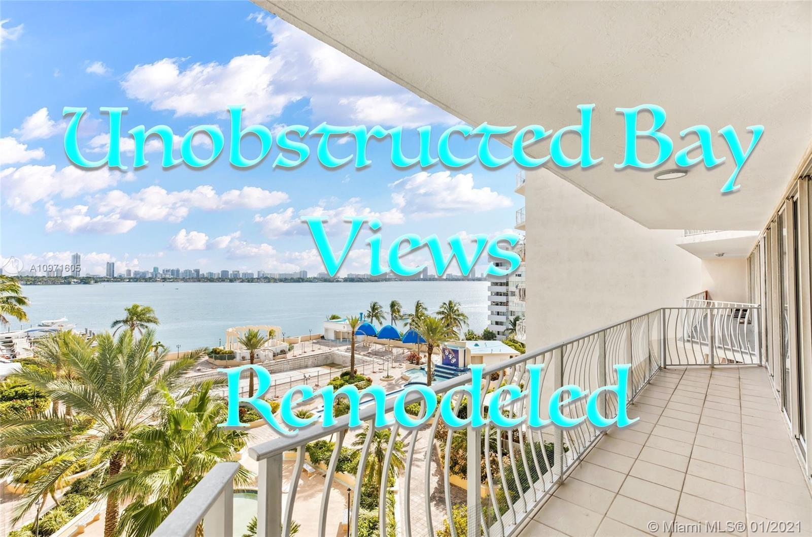 Must see! Breathtaking, unobstructed, million-dollar views of the Biscayne Bay and Miami Beach skyli