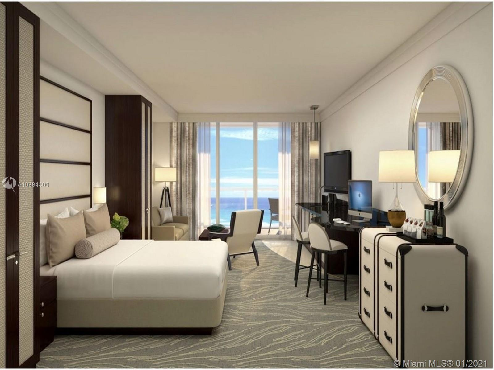BEAUTIFUL JUNIOR SUITE/1 BATH WITH VIEWS OF OCEAN, BAY & CITY. FULLY FURNISHED TURNKEY INCLUDES: FLA
