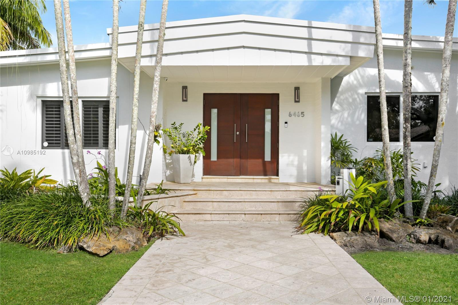 Beautifully updated Pinecrest residence offering 4 bedrooms and 3-1/2 baths, N/S tennis court, and p