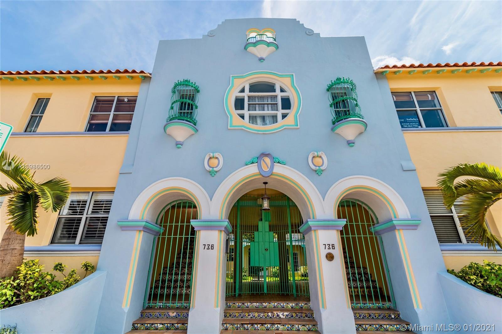 Probably the most charming historic building in the heart of South Beach! Boasts the lovely pastel c