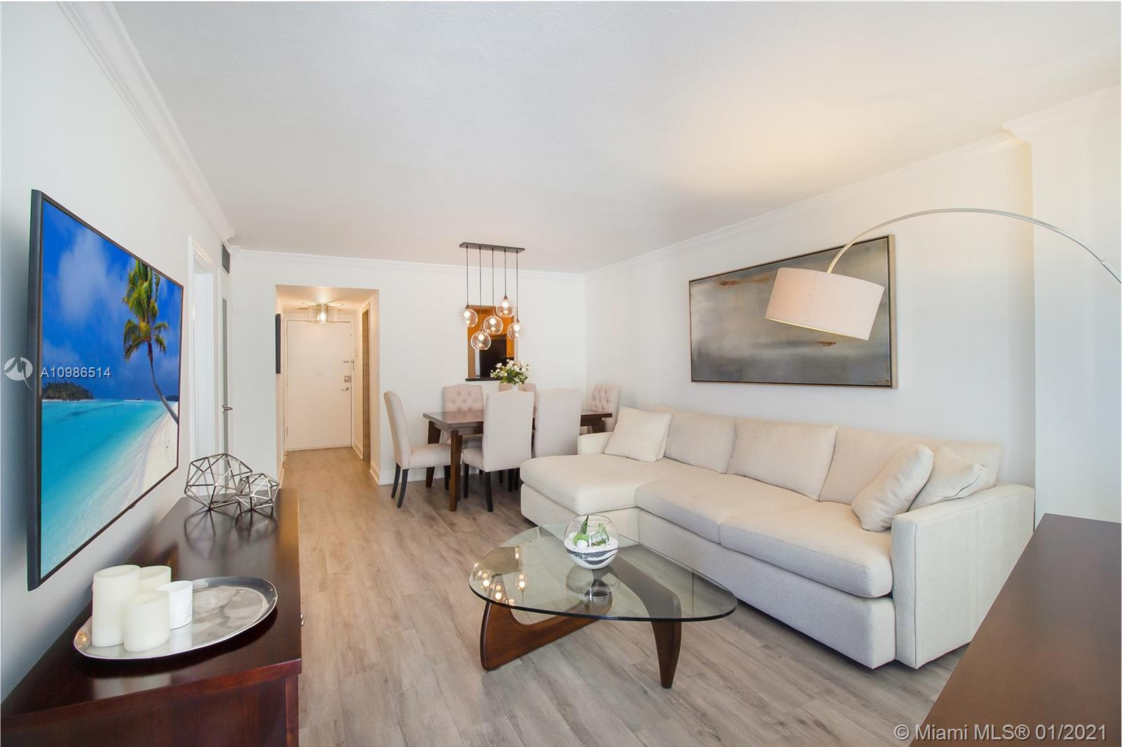 Tastefully renovated and conveniently located! Spacious 1 Bedroom 1.5 bath boasting natural light fr
