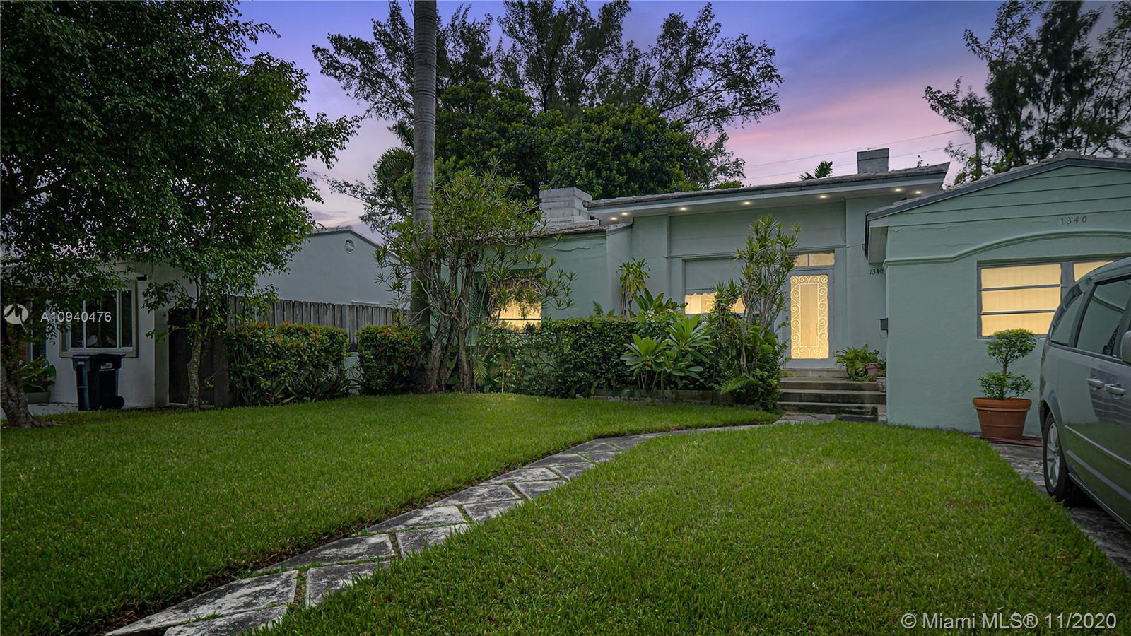 1938 Architectural Gem. Best priced home on a residential street in Miami Beach. Gorgeous original t