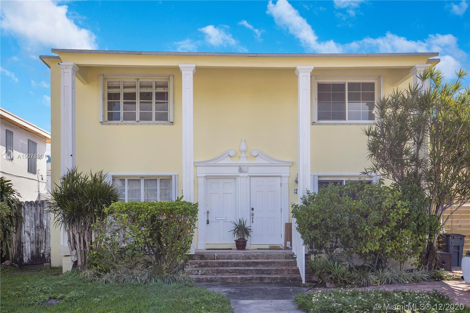 Make this home yours. Home has lots of potential and private patio. Blocks from the beach and centra