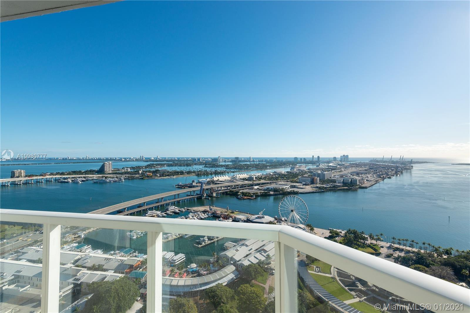 This incredible large 2 Bedroom plus a Den features a direct East water view with panoramic and unob