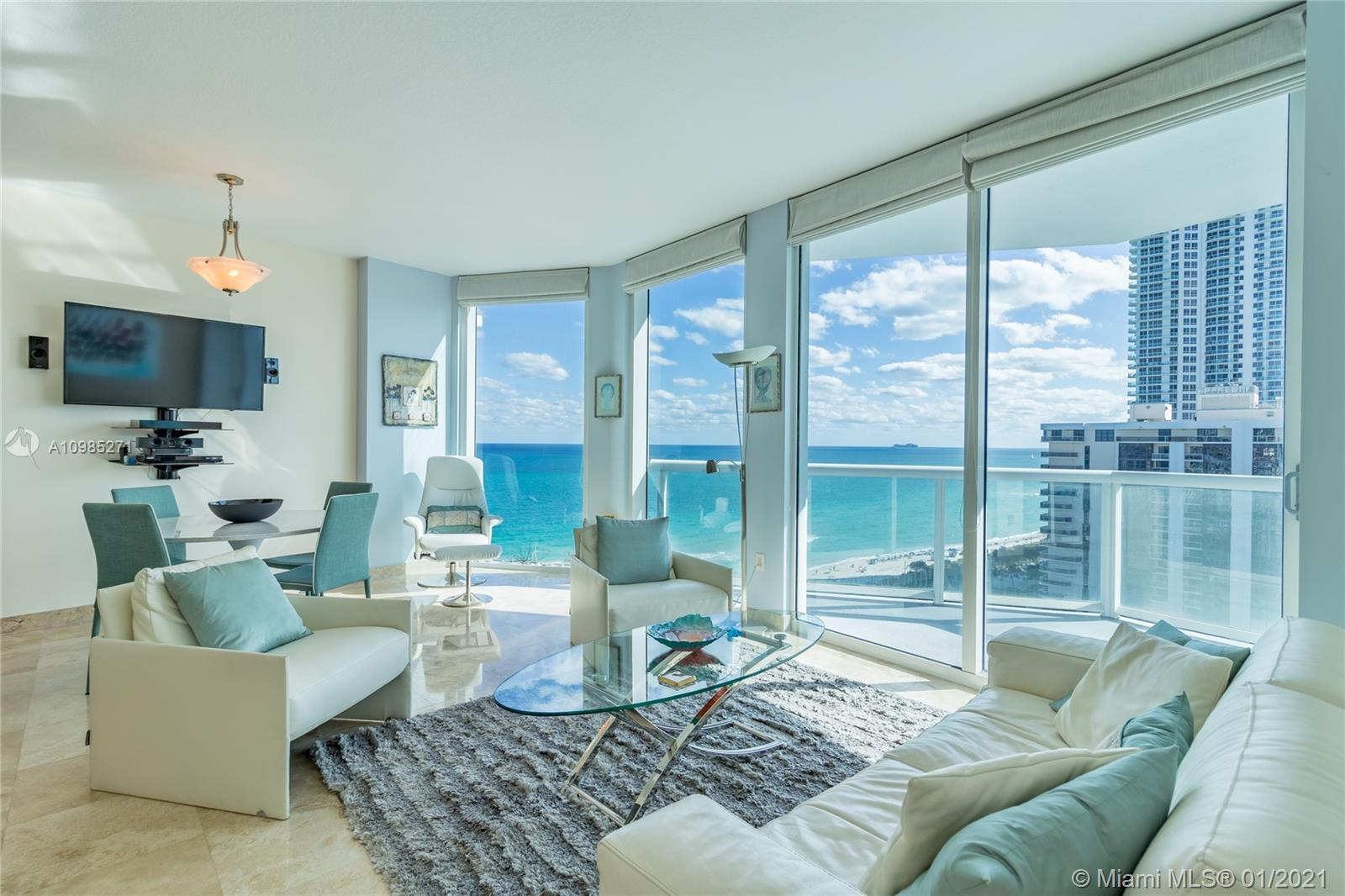 Direct Ocean, Bay & City views from this very competitively priced residence at Bel Aire on the Ocea