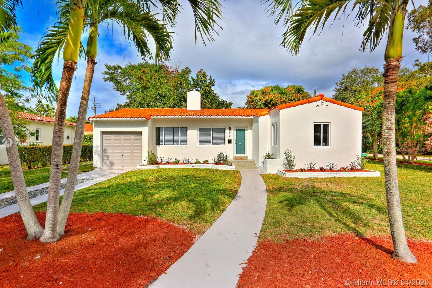 Lovely home in a coveted Miami Shores neighborhood. Recent total renovation. Light-filled living spa