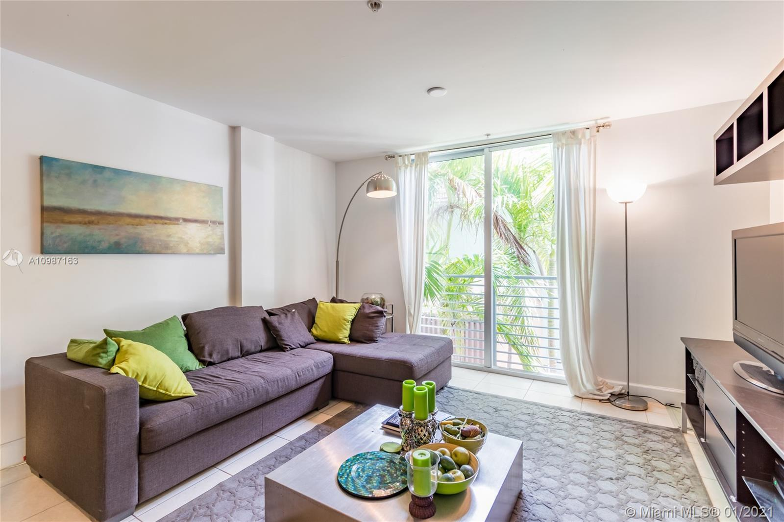 Stunning 2 bed/2.5 bath residence in the heart of South Beach. This home features a double balconies