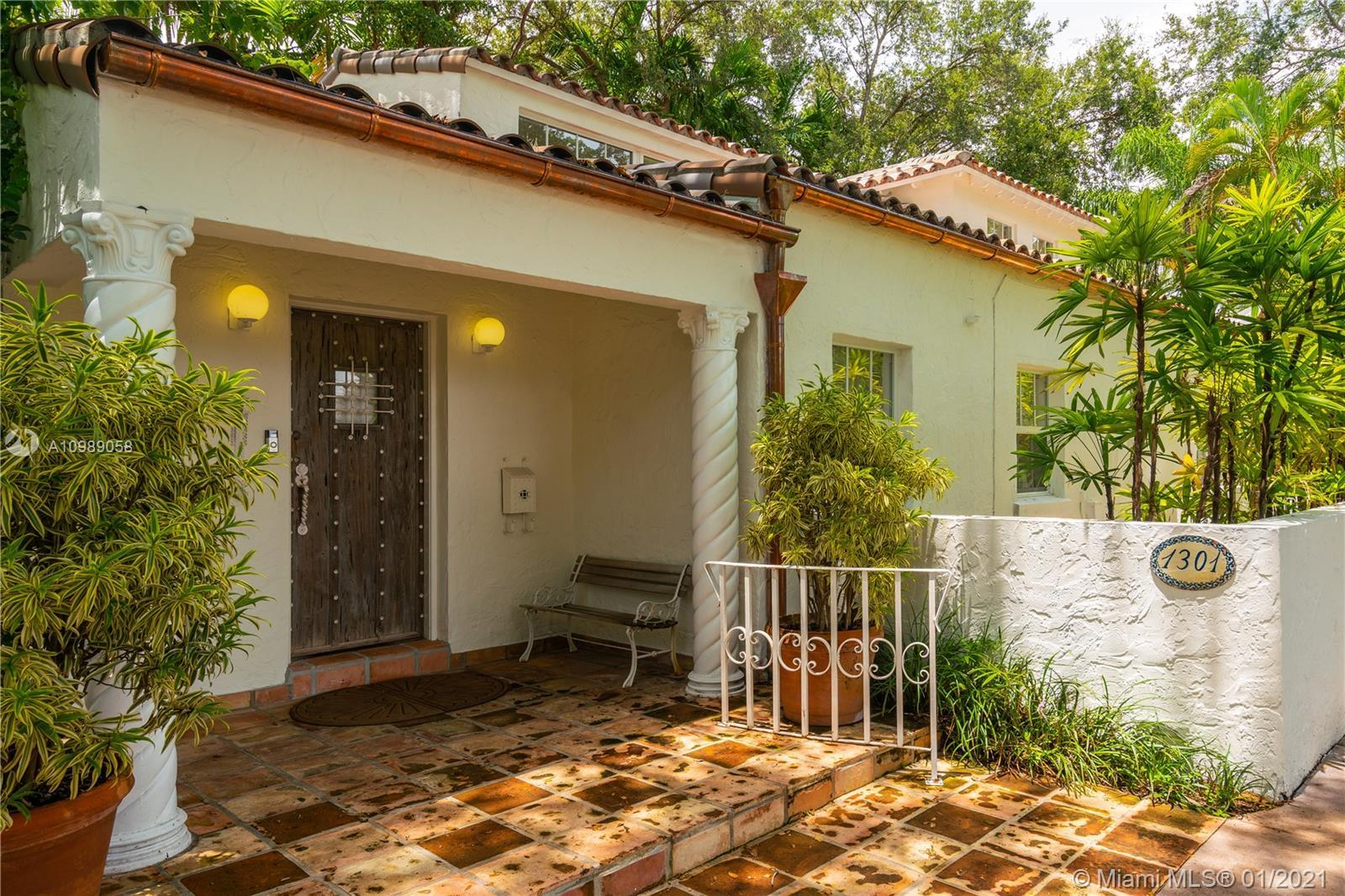 On one of Coral Gables most coveted streets around the corner from the Granada Golf Course this hist