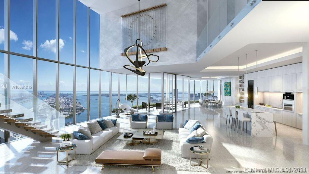 PARAMOUNT Miami Worldcenter, the building with the most amenities in the world.  This 5BD + Den / 6