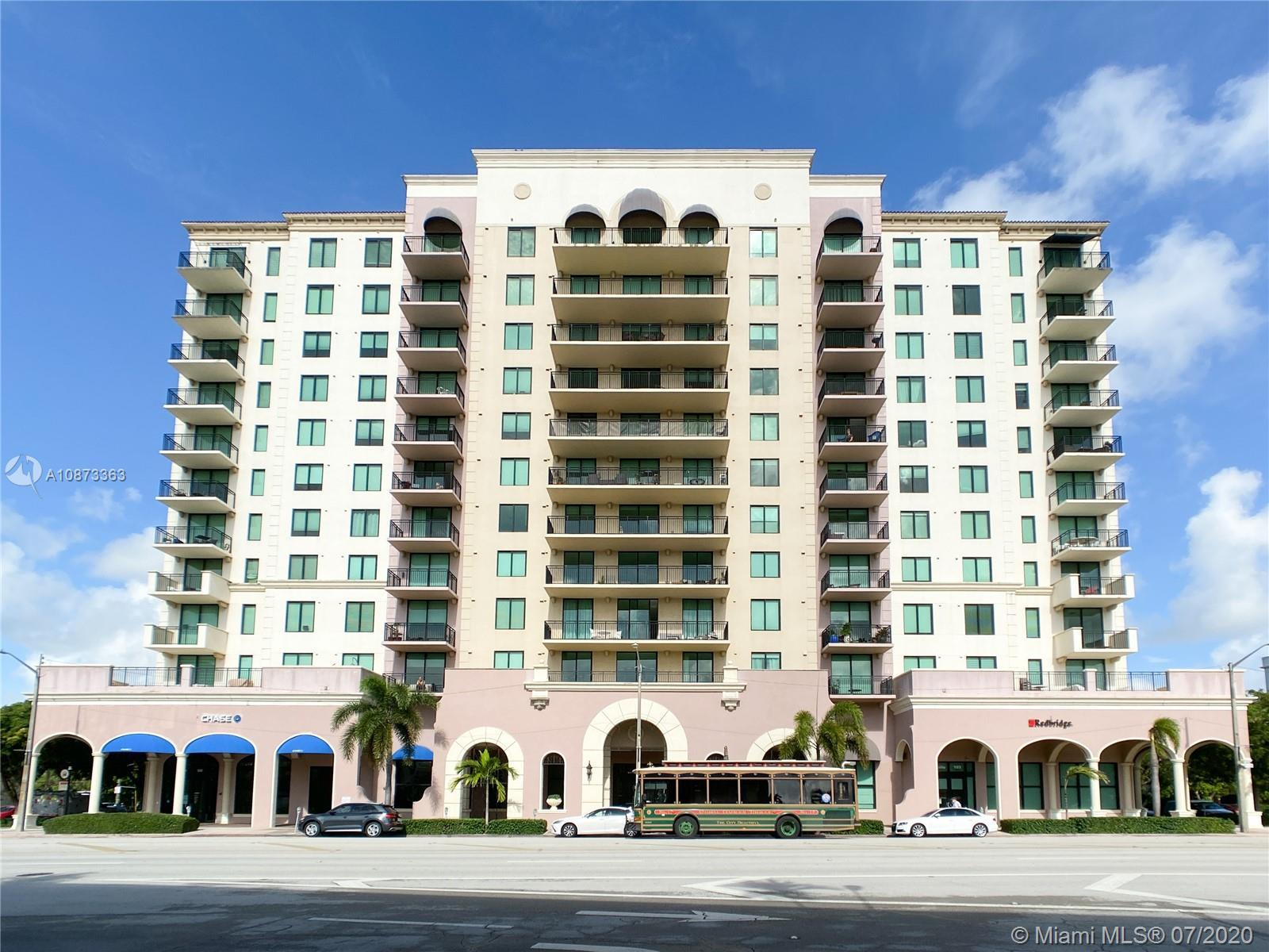 Bright and Spacious condo in the heart of Coral Gables. Unit 810 at the 1300 PONCE features an Open