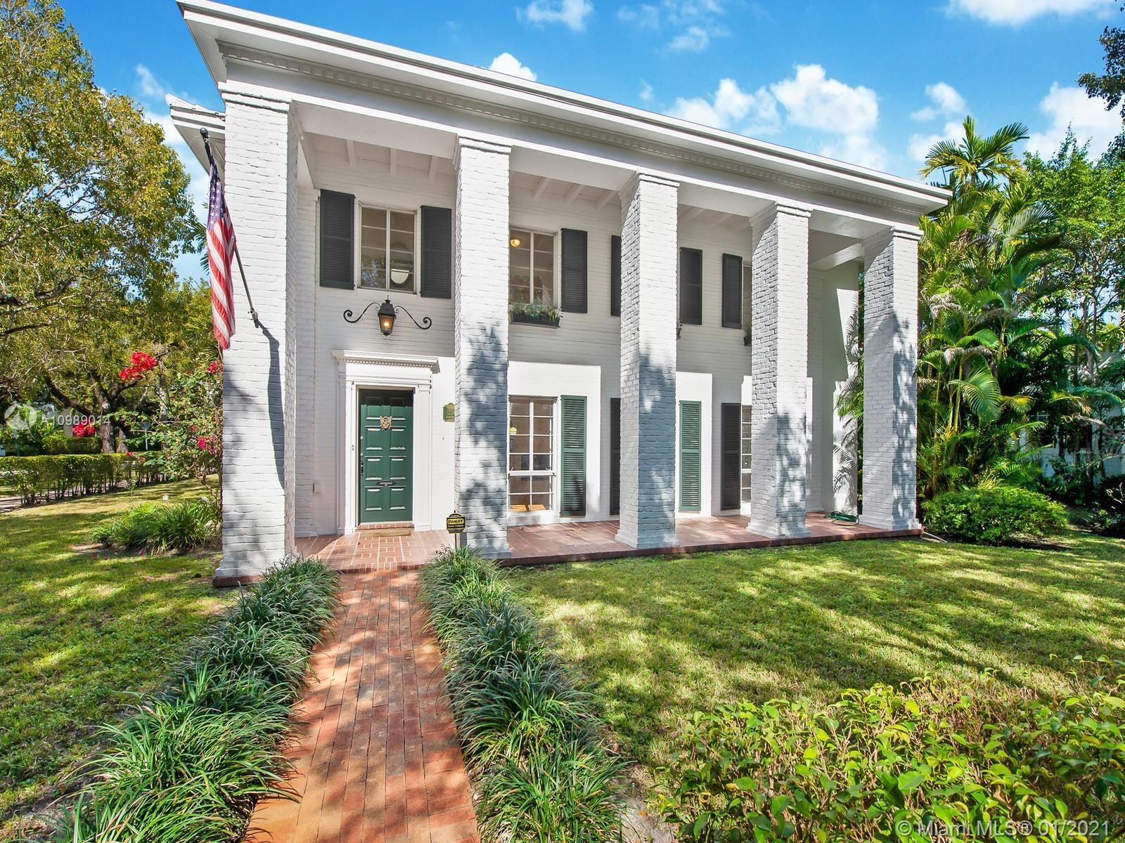 Elegant and iconic, this home epitomizes colonial Coral Gables architecture on one of its most famou