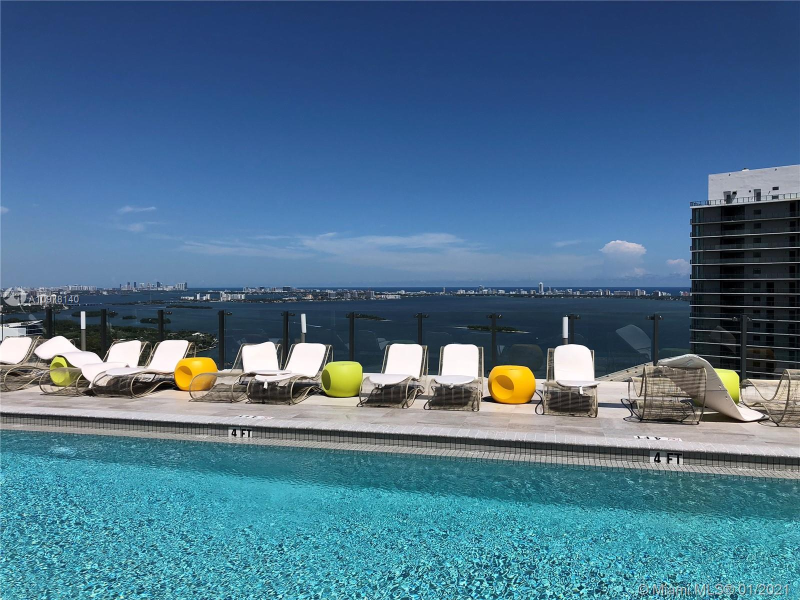 Gorgeous unit in Paraiso Bayviews, in trendy Edgewater! This building, by Karim Rashid, is part of t