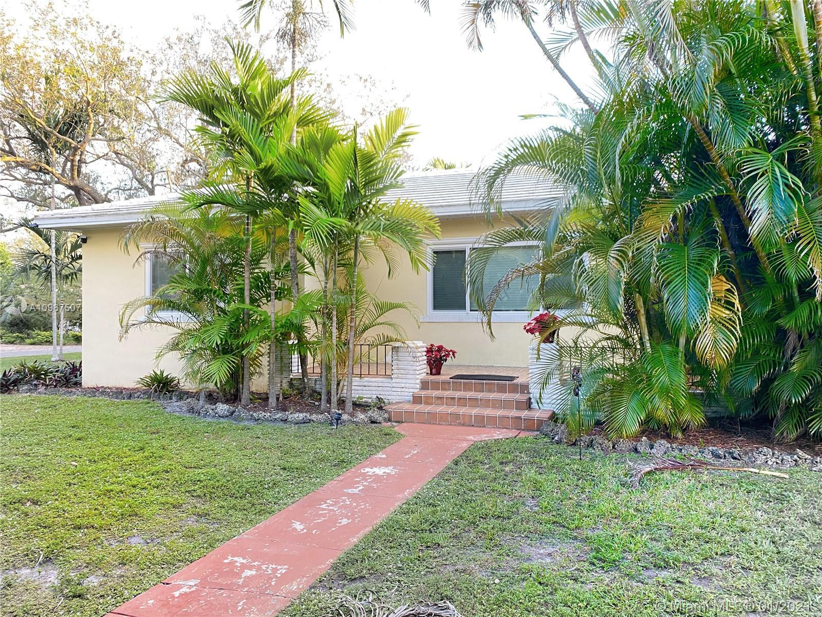 Great opportunity to own a Miami Shores gem with a Corner Double Lot 15,000 SF with a large pool and