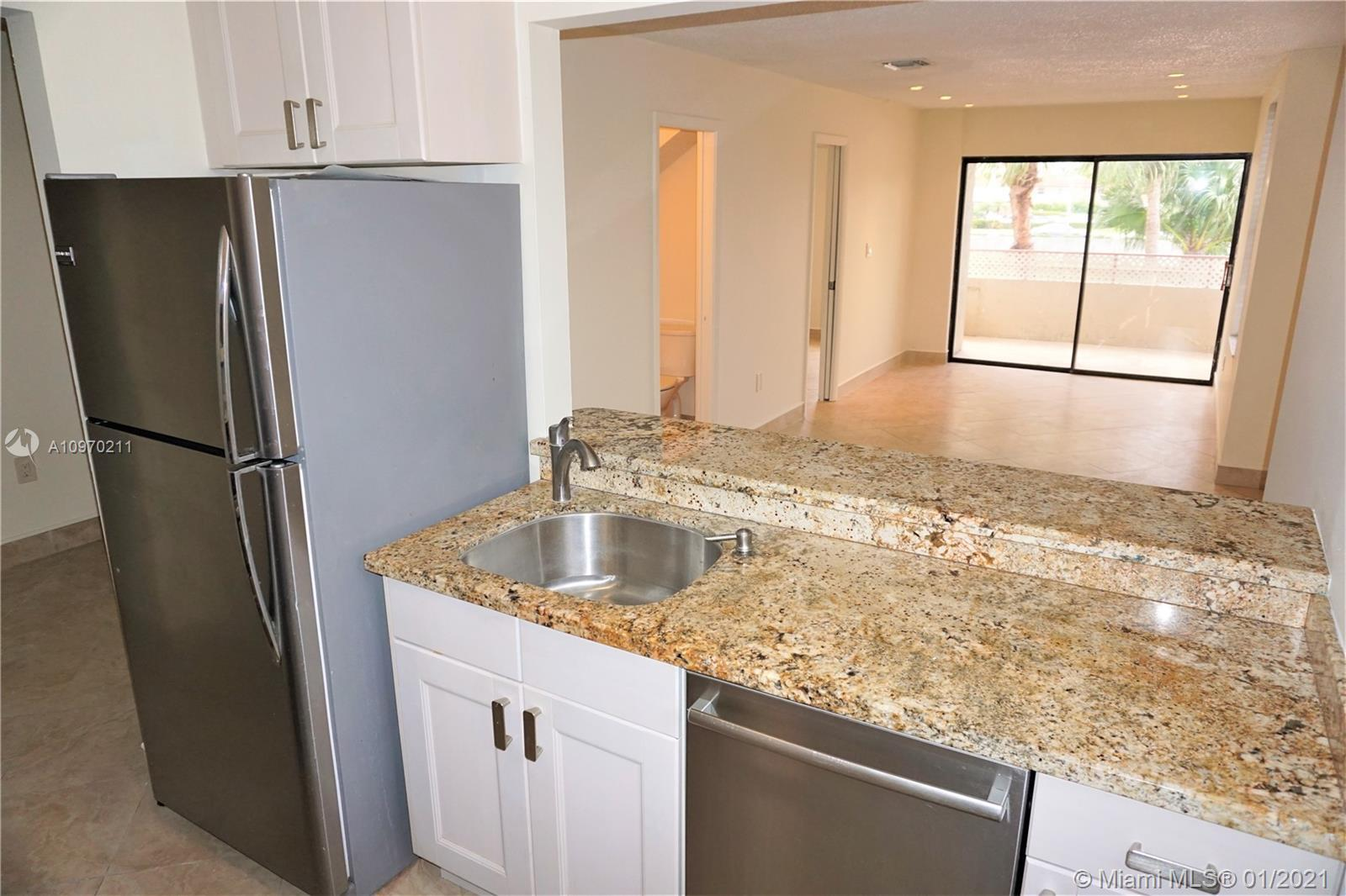 Remodeled Townhome in Miami  Springs! Features 2 bedrooms, 2 baths, den, Living room, dining room, half bath on the main floor and 2 bedrooms/2 baths upstairs.  Unit entry is on the second floor, Bedrooms are on the third floor. Building doesn't have an elevator.  Credit/background check and income verification are required. No pets allowed.