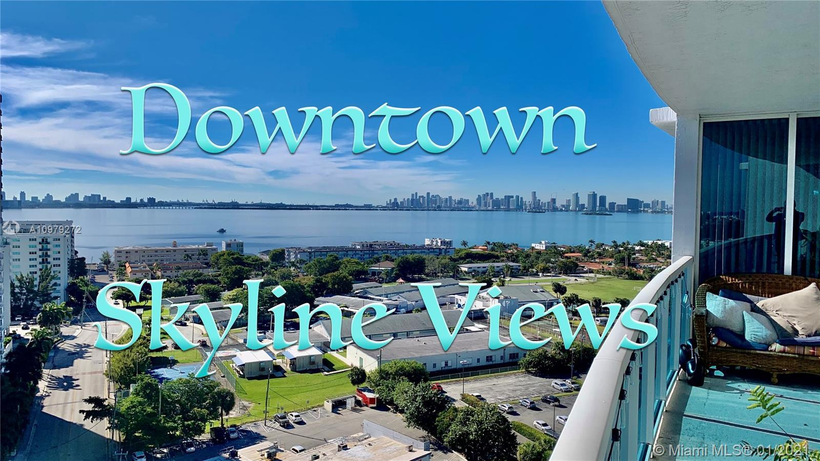 Enjoy spectacular southwest Biscayne Bay views from this waterfront condo located in North Bay Villa