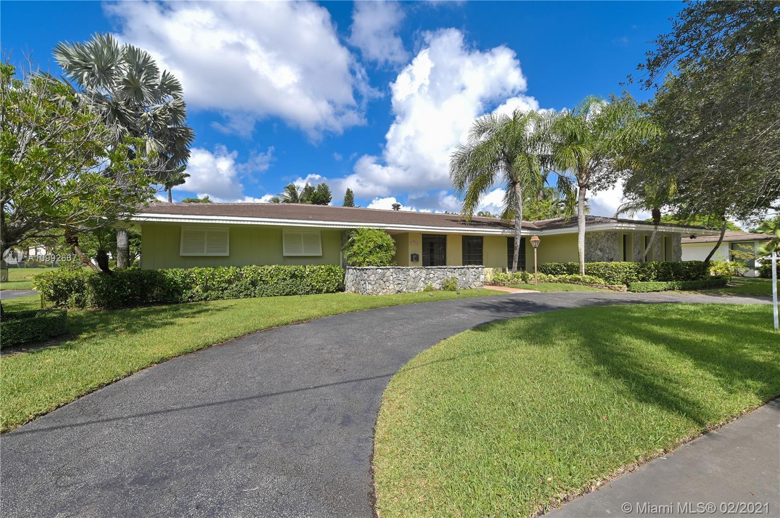 Stunning and spacious 4 BR, 2.5 bath waterfront pool home in the heart of Pinecrest. Primary feature