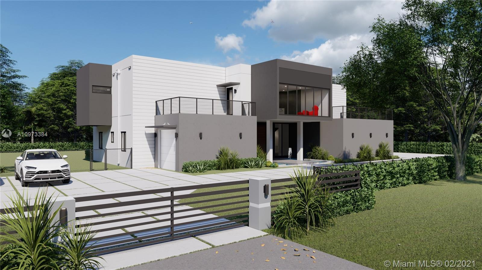 Modern Masterpiece designed by ECO Modern Custom Homes. This 2-story is being constructed in a cozy