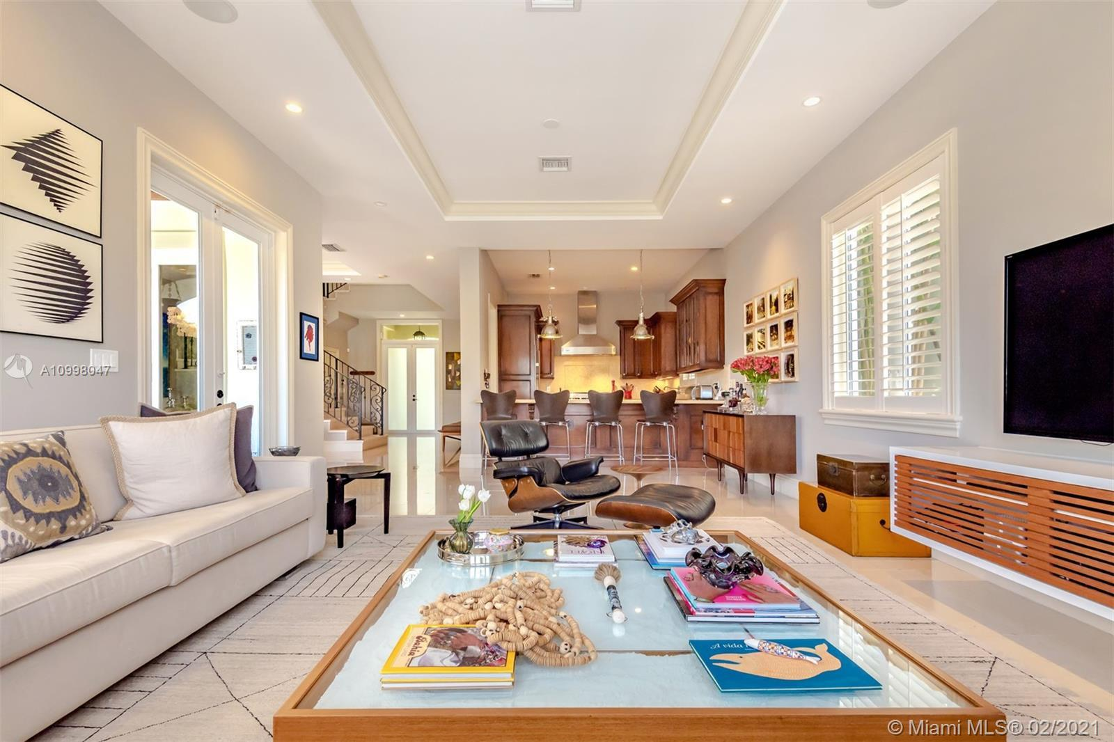 Beautiful 4 Bed and 4/1 Bath Townhome in Gables Waterway! Fantastic water views. This is 1 of only 4